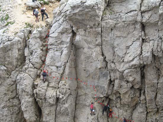 Klettersteig Rotwand : Masaré rotwand